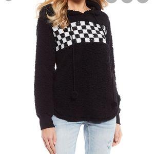 Miss Chievous women's black checkered hoodie
